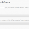 Create and delete sidebars
