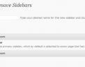 Create and delete sidebars